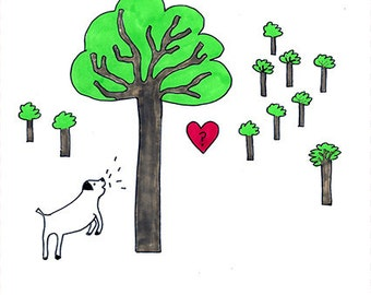 Am I barking up the wrong tree Valentine card
