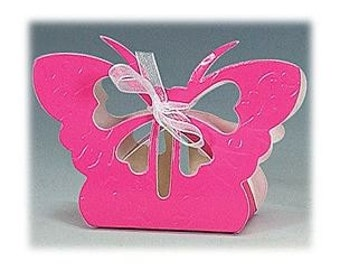 Wedding Party Butterfly Favor Box - Package of 12 - Available in 11 Colors!