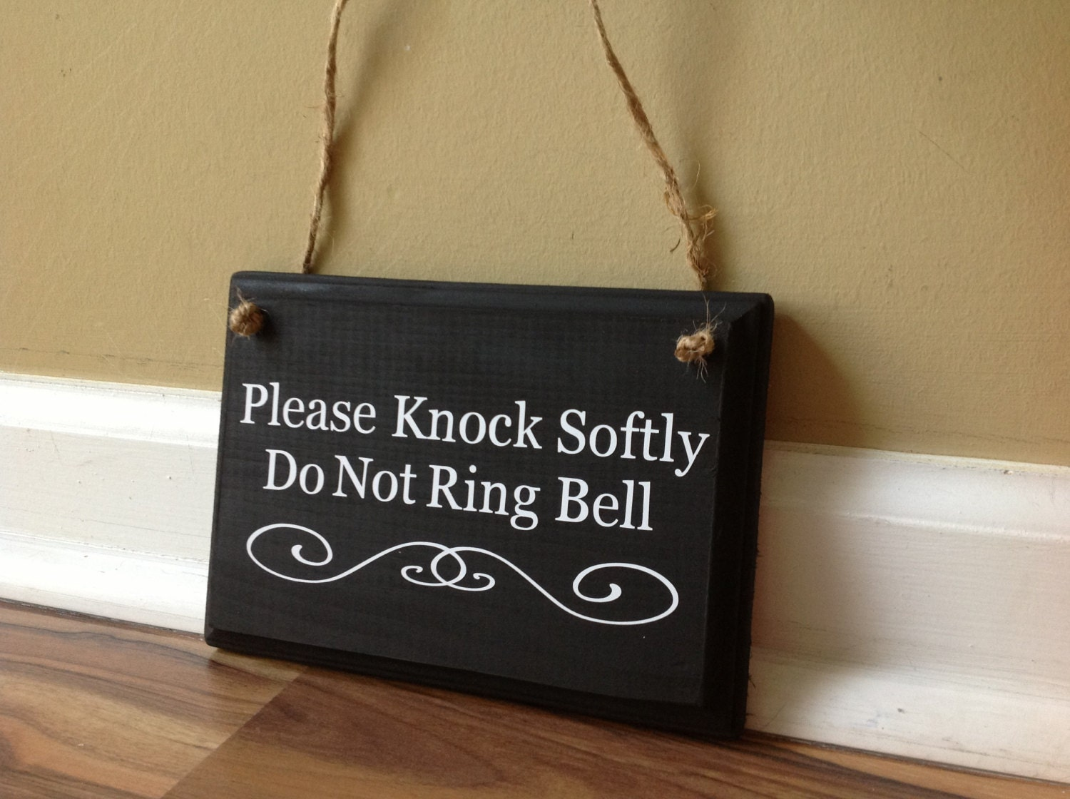 Please Knock Softly Do Not Ring Bell Babies By Gagirldesigns