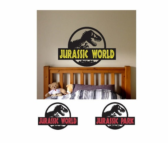 Jurassic Dinosaur Wall Decal Sticker Large Kids Bedroom Big Fun - Jurassic world wall decals