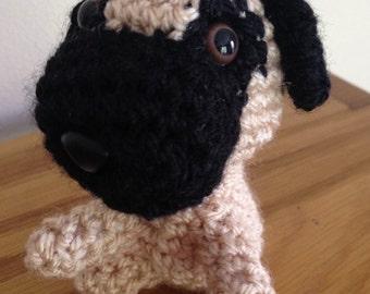Miniature Crochet Pug
