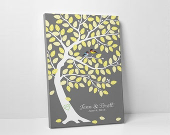 Wedding Guest Book Canvas - Alternative Guestbook - Gallery Wrapped Canvas - 75-100 Guests - Wrapped Canvas - 16x20,20x30 or 24x36 Inches