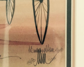James werline framed AMISH print numbered 603/1050