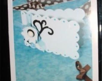 "Scallop Card #3 656454 Scalloped Sizzix Bigz XL 12"" Long Die"