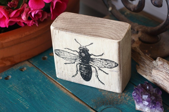 items similar to bee wooden decor block rustic sign
