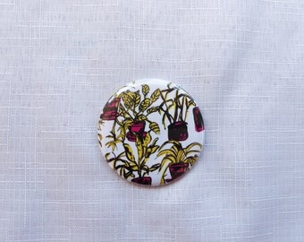 House Plants 58mm Pocket Mirror