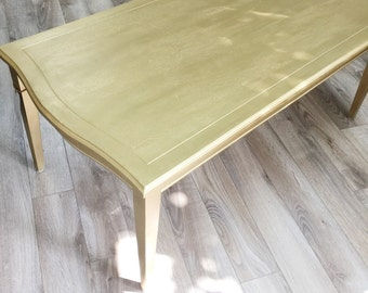 Table Salon gold and finished cracked - design dawn