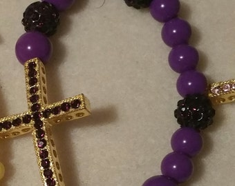 Beautiful Sideways Cross Bracelet