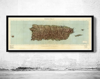 Old Map of Puerto Rico and adjacent islands