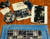 CUSToM STAR WARS Baby Blanket Burp Cloths Pacifier Pod & PP Teepees FabULoUs New Dad Gift Set Geeky Nerdy Adorable Star Wars Baby Nursery