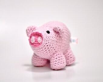 Henry the Pig Crochet doll, amigurumi toy, stuffed animal, crochet toy, baby shower gift