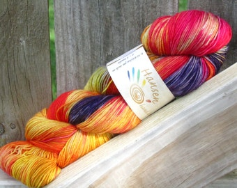 I know you are but what am I? - Purely BFL - SW Bluefaced Leicester Hand Dyed Sock Yarn