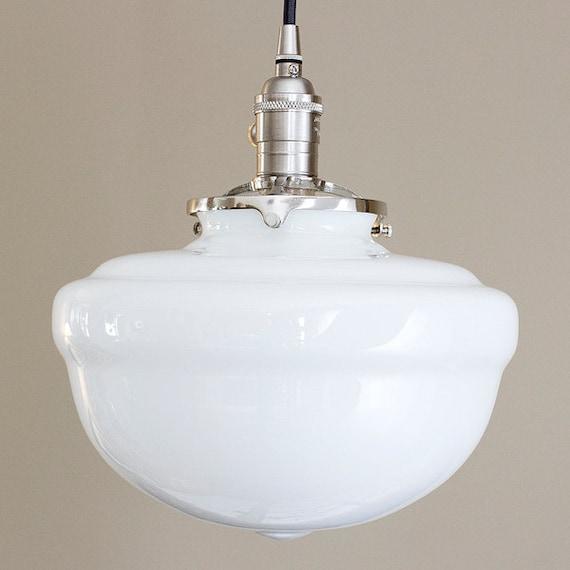 Schoolhouse Pendant Light Fixture Acorn Style Glass