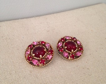 Pink and Red Earrings by Barclay
