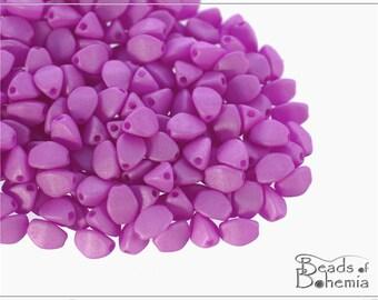 50 pcs Vexta Soft Orchid Czech Glass Pinch Beads Classic 5x3,5 mm (9592)