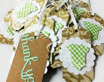 """Favor Tags - """"Thank You"""" - Baby Shower*Baby Girl*Baby Boy*Customizable*"""