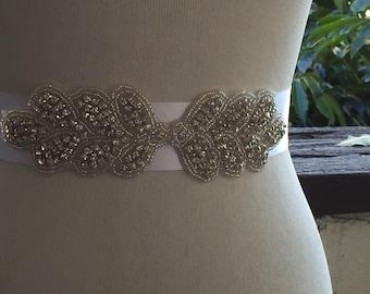 Wedding Bridal Belt Sash,Bridal Rhinestone Belt,Wedding Crystal Belt,Wedding sash,Bridal Sash