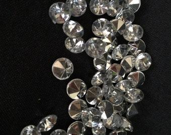 50pc DIY Rhinestone 8mm Clear Quality product. Craft,bouquet,wedding,prom accessories.