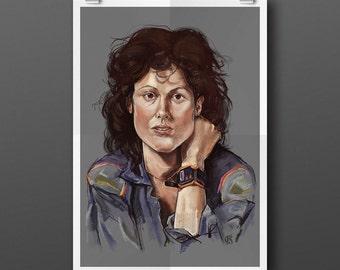Ripley A3 Illustration Print
