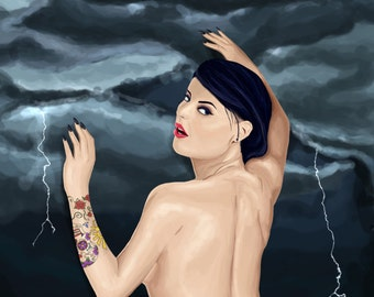 Shes Thunderstorms ~ Arctic Monkeys Inspired Art by zombieCraig