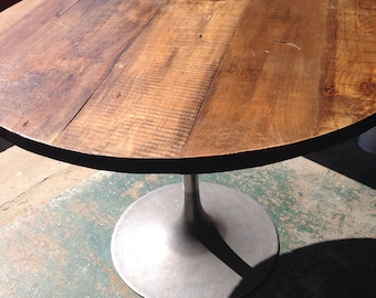 Round Rustic Modern Wood Dining Table Top 1 1 2 Inch 40 Inch Round