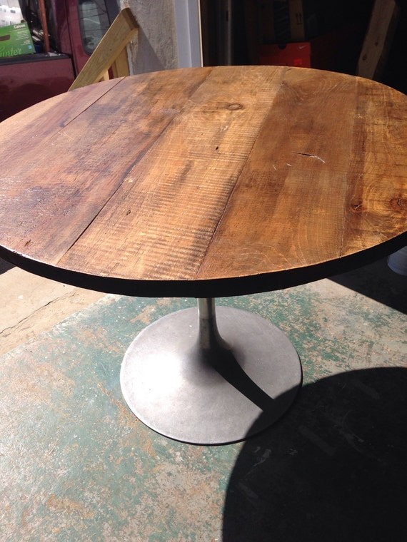 Round industrial coffee table topround dining by for 40 inch round coffee table