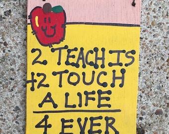 Teacher Gift Wood Pencil 3281TT - 2 teach is 2 Touch a Life 4 ever