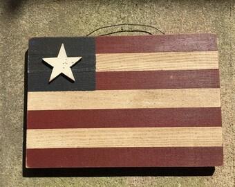 Patriotic Lathe American Flag Hanging