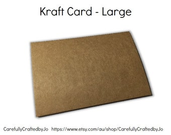Set 25 - Kraft Card - 15.5cm x 10.5cm - Perfect to use however you desire!
