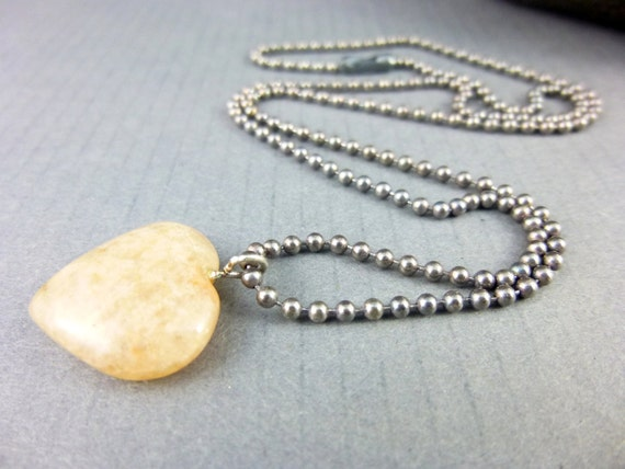 Peach Moonstone Heart Pendant Moonstone Necklace Chakra