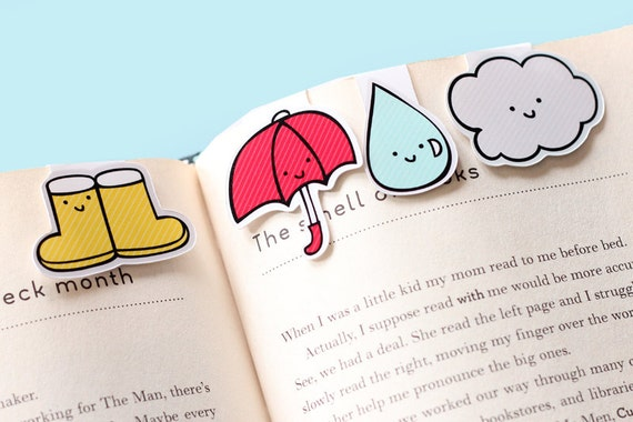 Rainy Day Magnetic Bookmarks (Mini 4 Pack)