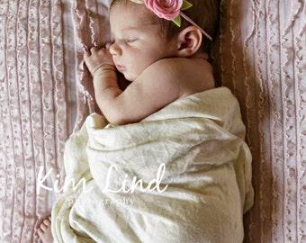 Baby Headband-Baby Felt Flower Headband-Baby Flower Headband-Newborn Baby to Adult