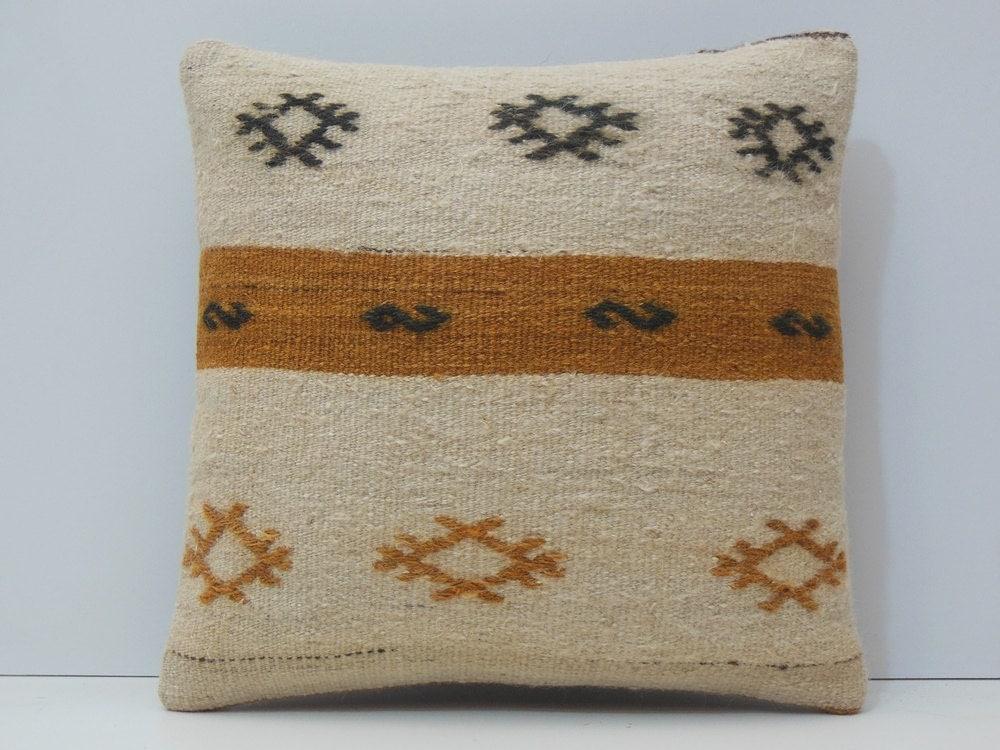 White Cream Throw Pillows : cream throw pillow 18x18 pillow white by DECOLICKILIMPILLOWS