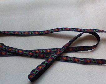 "Dog Leash,Dog Bone and Ball,colorful design,5/8"" dog leash Handmade 6 Ft #BBL210"