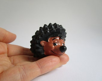 SALE 25%  Small vintage hedgehog toy, German advertising figure, German vintage