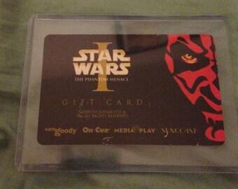 Star Wars Phantom Menace Darth Maul Refrigerator Magnet collector card