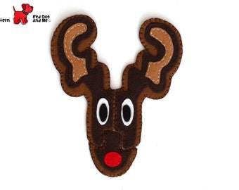 Reindeer 3 Piece Jigsaw Puzzle Easy Hand Sewing PDF Toy Pattern Soft Toy Christmas Gift Animal Pattern