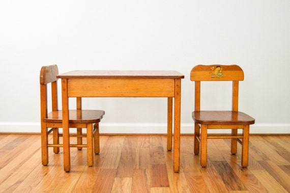 Child S Table And Chairs Wood Kids Table And Chairs