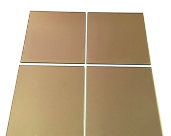 Mirrored Bronze Square Mosaic Wall Tiles