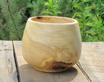 Tall, Small Maple Bowl