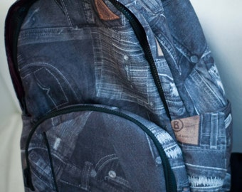 Backpack/ Denim/ Big and organized/ Bag by Bagy