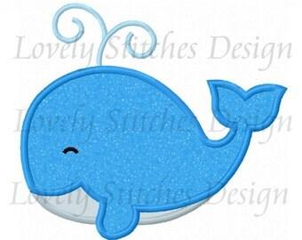 whale Applique Machine Embroidery Design NO:1320