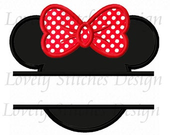Minnie Mouse Applique Machine Embroidery Design NO:0339