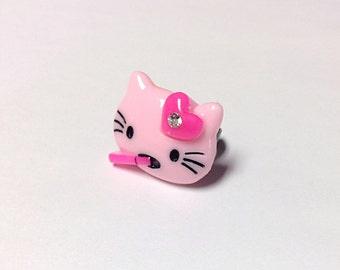 Smoking kitty ring, rebel kitty ring, crazy kitty ring, 420 kitty, 420 ring, 420 jewelry
