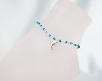 Turquoise Dolphin Anklet