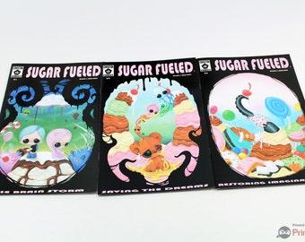 Sugar Fueled Comic 1 - 3 Michael and Sarah Banks Candy Lowbrow Pop Surrealism Children's Kids Comic