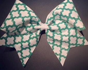 3in. Glitter Moroccan Boho Cheer Bow