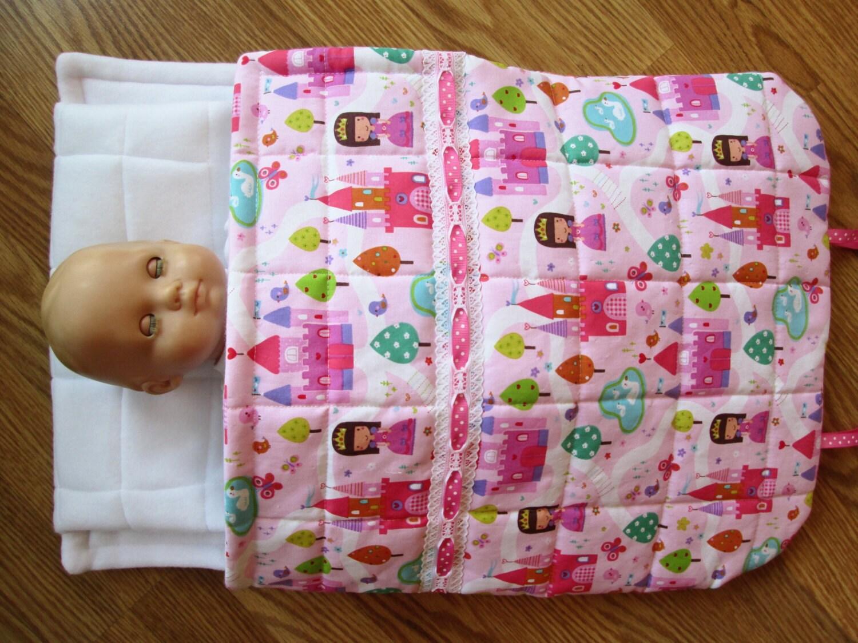 sac de couchage pour poup es fille par plentifulthreads sur etsy. Black Bedroom Furniture Sets. Home Design Ideas