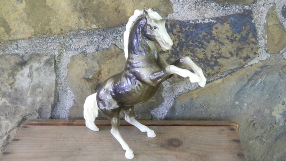 Horse statue rearing horse thoroughbred horse equestrian for Decor vein tendonitis