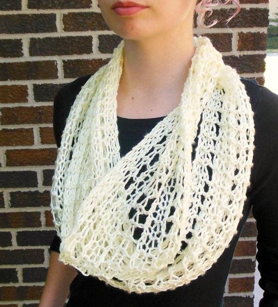 Open Weave Knit Scarf Pattern